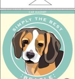 Paper Russels Beagle Car Magnet