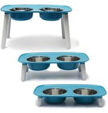 Messy Mutts Elevated Double Feeder