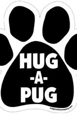 Independent HUG A PUG CAR MAGNET