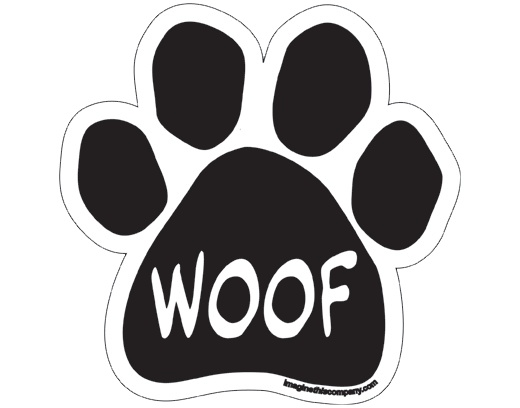 Independent WOOF PAW CAR MAGNET