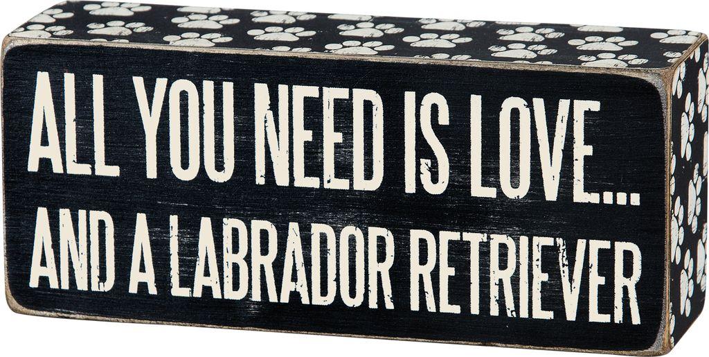 Primitives Labrador Box Sign