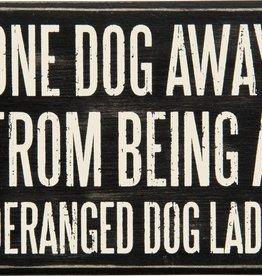 Primitives Dog Lady Box Sign