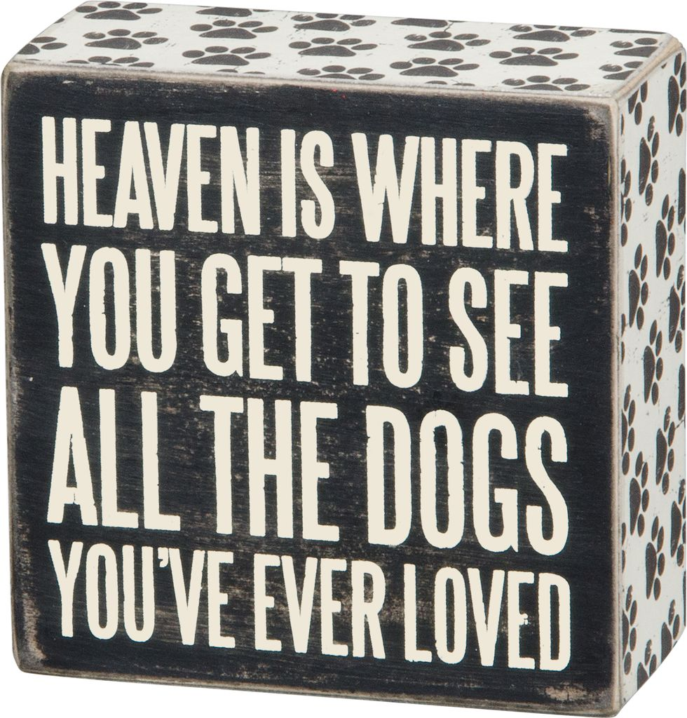 Primitives Heaven Box Sign