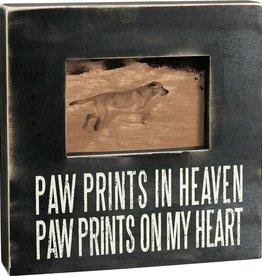 Primitives Paw Prints Heaven Picture Frame