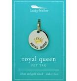 Lucky Feather Royal Queen Collar Charm
