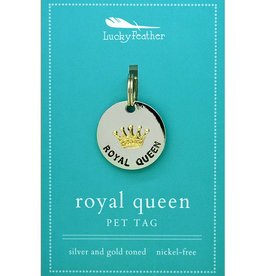 Lucky Feather Royal Queen Collar Charm