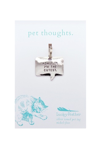 Lucky Feather The Cutest Thought Bubble Charm