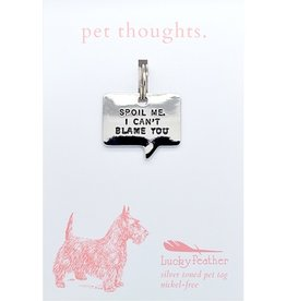 Lucky Feather Spoil Me Thought Bubble Charm