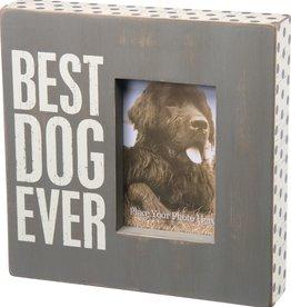 Primitives Best Dog Ever Picture Frame - Gray
