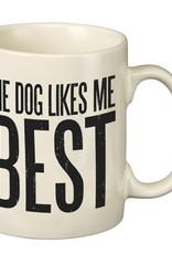 Primitives Dog Likes Me Best Mug