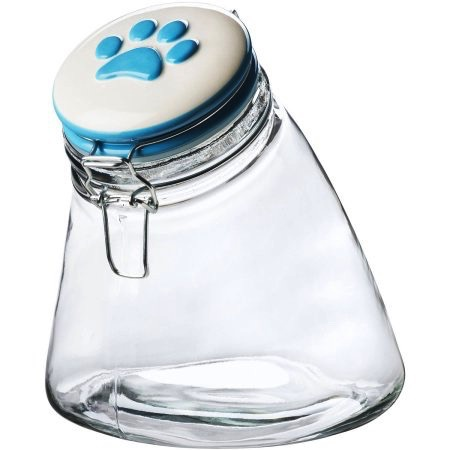 Amici Amici Sloped Treat Jar Blue Paw