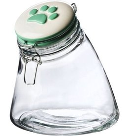 Amici Amici Sloped Treat Jar Green Paw