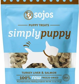 Sojos Sojos Simply Puppy Treats - Salmon