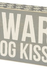 Primitives Dog Kisses Box Sign