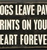 Primitives Paw Prints Box Sign