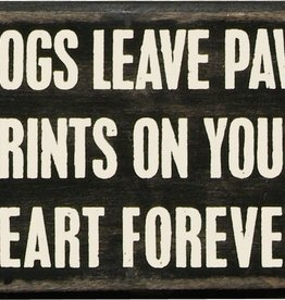 Primitives Paw Prints Box Sign