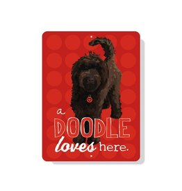 Independent Chocolate Doodle Loves Here