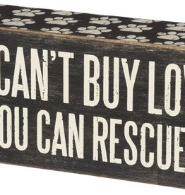 Primitives Rescue It Box Sign