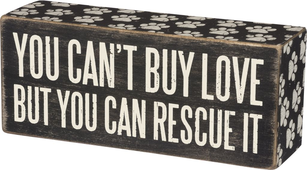 Primitives Rescue It Box Sign