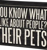 Primitives Their Pets Box Sign