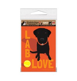 Independent Black Lab Love Magnet