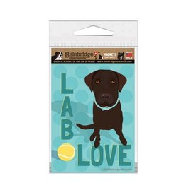 Independent Chocolate Lab Love Magnet