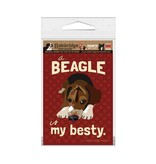 Independent Beagle Besty Magnet