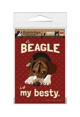 Independent Beagle Besty Magnet