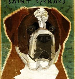 John W. Golden Art Saint Bernard Wooden Block