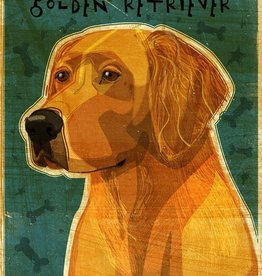 John W. Golden Art Golden Retriever Wooden Block