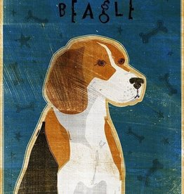 John W. Golden Art Beagle Wooden Block