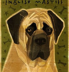 John W. Golden Art English Mastiff Wooden Block