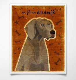 John W. Golden Art Weimaraner Wooden Block