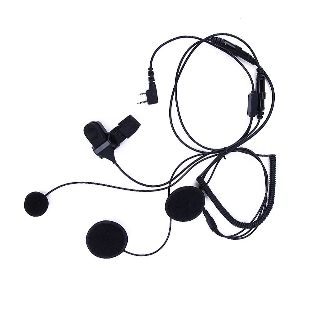PTT Full-Face Helmet Microphone (K Plug) for Baofeng / Kenwood Radios