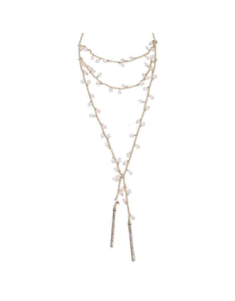 Beaded Drop Bar Necklace