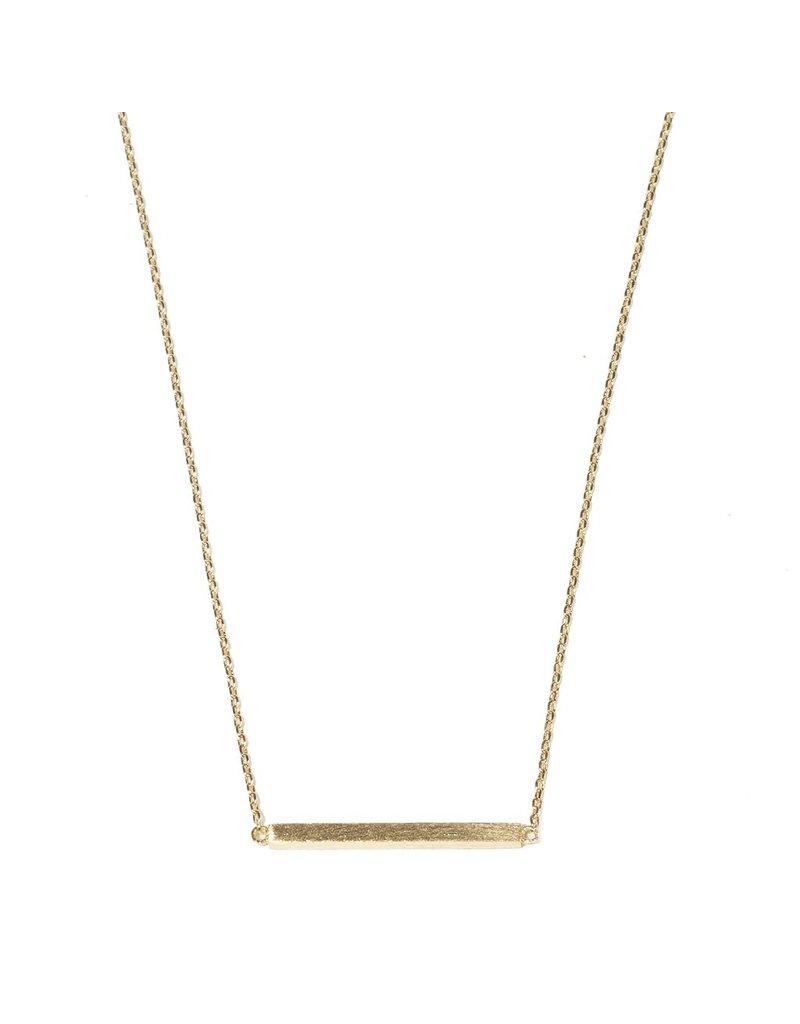 Brushed Metal Bar Necklace