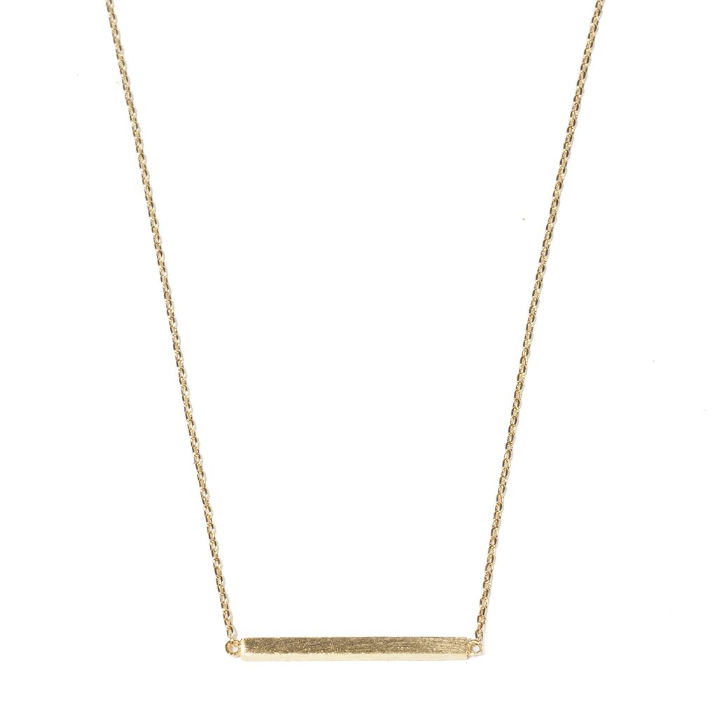 Brushed Metal Bar Necklace