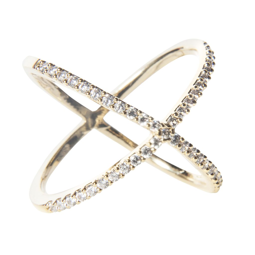 Jewel Trim X Ring