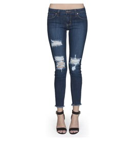 Distressed Fray Skinny