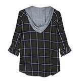 Charli Plaid Top W/ Hood