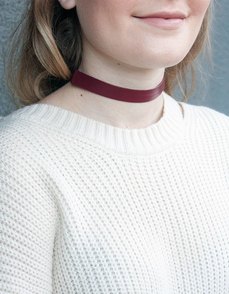 Thick Leather Choker