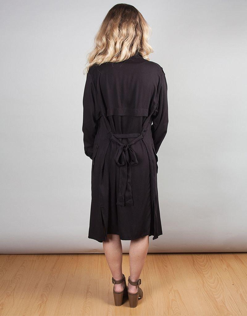 Heavy Rayon Twill Coat