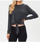 French Terry Front Tie Top