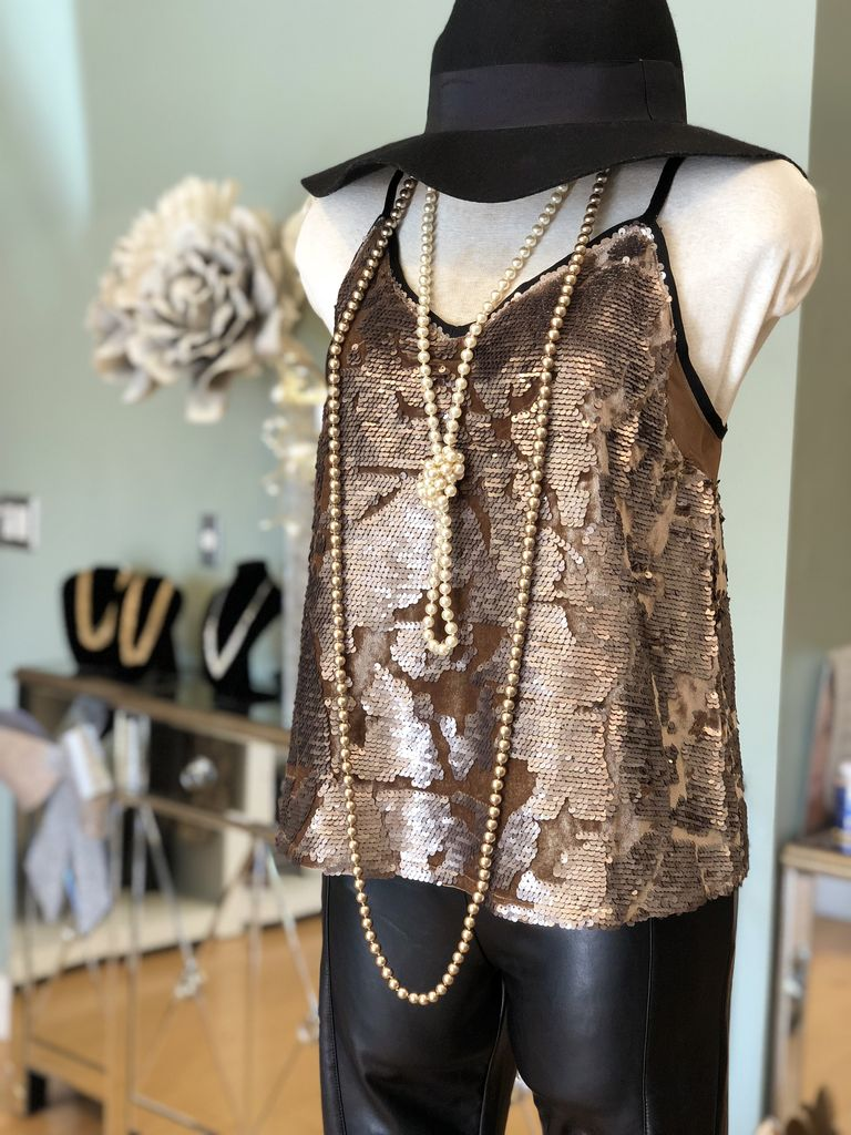 Sequin Patterned Tank