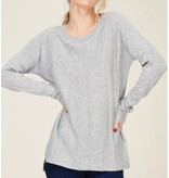 Crew Neck Sweater Top