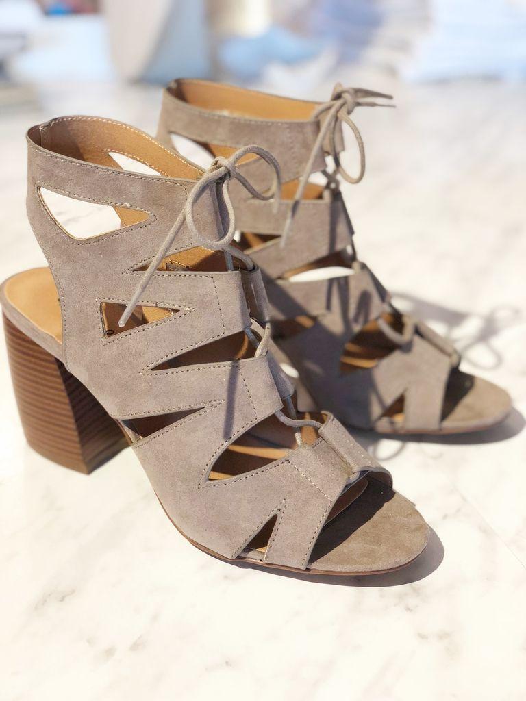 Beau Strappy Lace Up Sandal