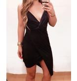 Day & Night Sienna Suede Wrap Dress