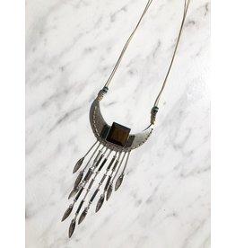 Aztec Wood Necklace