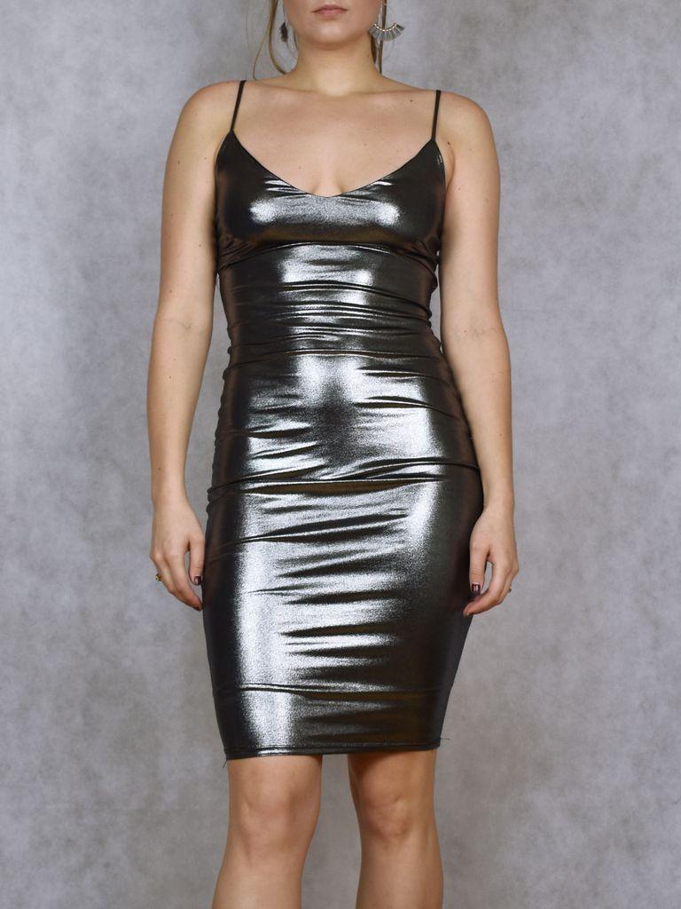 Madison Metallic Midi Dress
