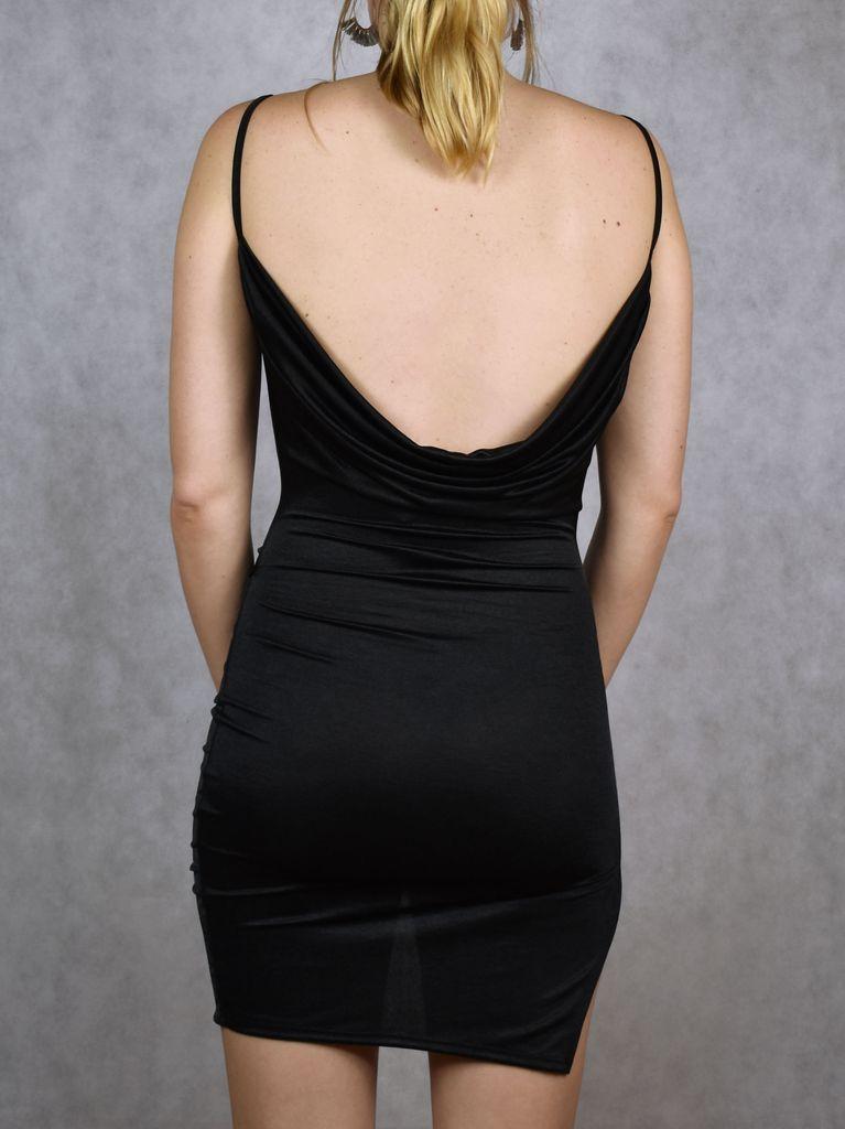 Slinky Wrap Front Dress